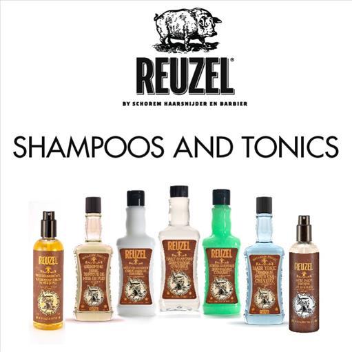 2.REUZEL SHAMPOOS AND TONICS