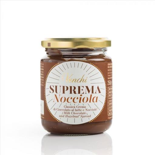 VENCHI Spread Suprema Nocciola Milk Chocolate and Hazelnut 250 gr